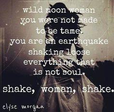 Untamed wild moon woman shake loose everything thats not soul! Little Bit, Divine Feminine, Sacred Feminine, Warrior Princess, Tribal Fusion, Beautiful Words, Beautiful Soul, Inspire Me, Wise Words