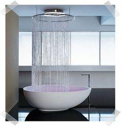 love this bathtub shower