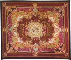 "European 17' 6"" x 15' 0"" Antique Aubusson at Persian Gallery New York - Antique Decorative Carpets & Period Tapestries"