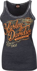 Harley-Davidson® Women's Tank, Glorious Tattoo, Washed Charcoal Heather