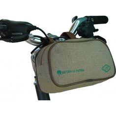 Borsetta manubrio per bicicletta in canapa.