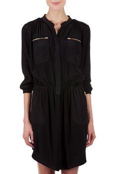 Zip Detail Shirt Dress