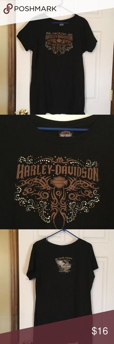Harley Davidson Sleep Shirt 31 1/2 inches from shoulder to the bottom of top.  100% cotton, very good condition.  Worn a few times.  Size is 2X but if you like it big, I would say XL. Harley-Davidson Intimates & Sleepwear Pajamas