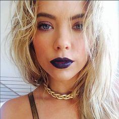 Ashley Benson rocks dark lipstick! #PrettyLittleLiars