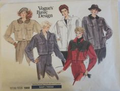 Vogue Basic Design 1968 Denim Jacket Pattern Bust by Denisecraft, $9.99