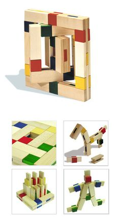 Naef Regolo Wooden Building Block Toy | NOVA68 Modern Design #kids #play #toys