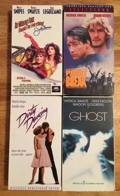 PATRICK SWAYZE VHS movies Lot of 4 - Dirty Dancing Point Break Ghost To Wong Foo