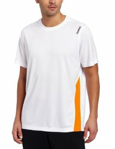 Reebok Men's Tennis Short Sleeve Tee by Reebok. $27.75. Media port at shoulder. 100% Polyester. Play Dry technology. Mesh inserts for mobility. Regular fit tennis crew. This tennis crew has mesh inserts for mobility and breathability, a media port and Play Dry Technology.