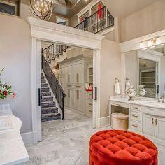 "Interior Design & Home Decor on Instagram: ""When your master bath leads to a two story walk in closet  tag 1 fashionista friend. by Jordan Wheatley Custom Homes @jwchlubbock"""