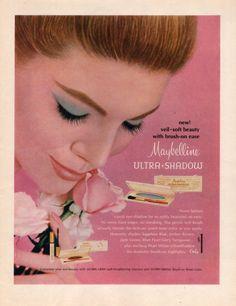 1965 Maybelline vintage Eye shadow print ad by catchingcanaries, $9.00