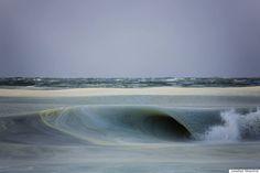 Ethereal Slurpee Waves Roll Onto Frigid Nantucket Beach ~ Jonathan Nimerfroh ~ photographer & surfer