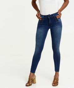 Kit 3 Calças Jeans Feminina Cintura Média