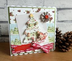 Helz Cuppleditch - Winter Woodland Christmas tree card by Maxine