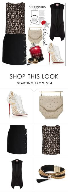"""""""chicwish"""" by bellamonica ❤ liked on Polyvore featuring Christian Louboutin, M2Malletier, Chicwish, Alice + Olivia, Cacharel, Phase Eight and Simons"""