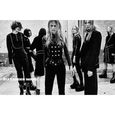 Evoking the heavy metal, Victorian & Goth influences #Fall2015.  fashion advertisement, promotion, poster, advert, photoshoot, graphic, photography, Alexander Wang