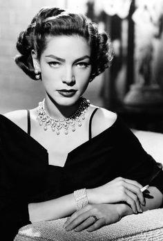 Lauren Bacall, 1950.