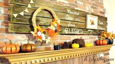 wood fence mantel Love this mantle idea!!