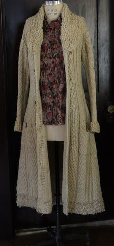 Cozy Knit 70's Boho Sweater Coat by MsVintageLove on Etsy, $189.00 I wonder what other colors...