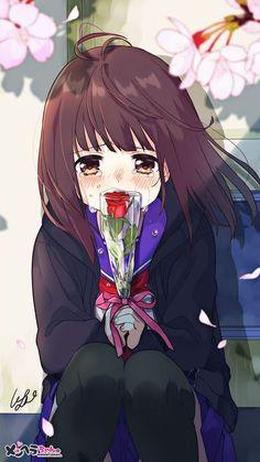 Manga Girl Sad, Anime Girl Crying, Manga Anime Girl, Cool Anime Girl, Me Anime, Cute Anime Chibi, Cute Anime Pics, Anime Neko, Anime Angel