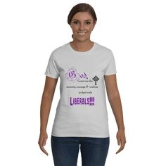 Funny T-Shirts, Inspirational sayings . God Grant me the Serenity Courage and Wisdom to Deal with Liberals!!!. Graphic Tee.