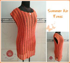Refreshingly classic Summer Air Tunic~free #crochet pattern by #BeACrafterxD. #handmade