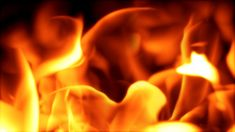 101 Dynamic gold raging fire photography&video background video material for video producer