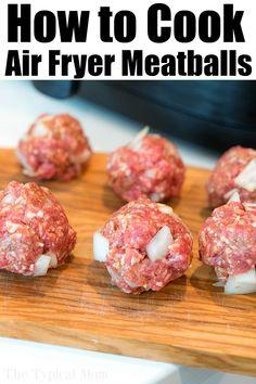 Cooks Air Fryer, Air Fryer Cooking Times, Air Fryer Oven Recipes, Air Fryer Dinner Recipes, All You Need Is, Air Fried Food, Air Fryer Healthy, Albondigas, Air Frying