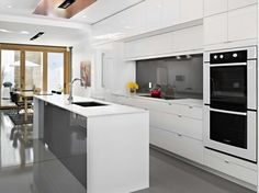 Kitchen:Wonderful White Kitchen Decor With Rectangle White Kitchen Island Combine U Shape Modern Stainless Steel Faucet Added Small Kitchen Cabinet White Kitchen Suggestions That Will Help Exceptionally Well