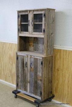 Primitive Barnwood Cabinet