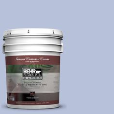 BEHR Premium Plus Ultra 5 gal. #610C-3 Williamsburg Blue Eggshell Enamel Interior Paint, Virginia Blue