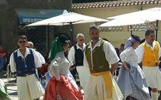 Traditional Spanish folklore mudic and dancing. Las Palmasissa.