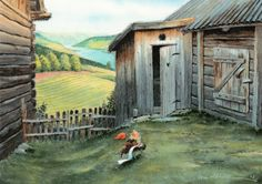 """Sommermotiv - www.midthunsamlerne.com """"Når nøden er størst.    Kjell Einar Midthun Norwegian Christmas, Nature Spirits, Miniature Houses, Fairy Land, Goblin, Faeries, Elves, Gnomes, Norway"""