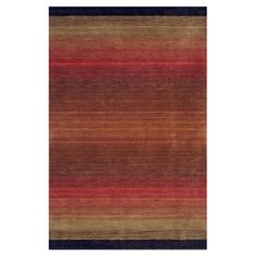 Showcasing ombre striping, this artfully crafted wool rug is a perfect addition to your living room or den seating group.    Produ...