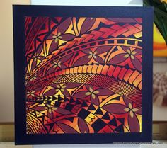 Janet's - Samoan Motif Patterns DKP36, 139.00 USD (http://www.janetssamoa.com/samoan-motif-patterns-dkp36/) A compact piece with strong bordering. The reds and yellows of Polynesian Flora are evident in this piece. Dynamic Waves of Samoan Tattoo Designs and motifs are visually rich and indicative of the richness of Samoan Forests.