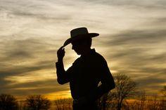 Senior Cowboy Sunset Picture