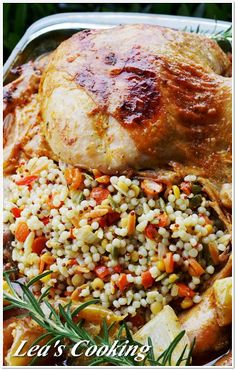 quick healthy recipe, Israeli style couscous, Orzo, Baby Garbanzo beans and Red quinoa recipe,