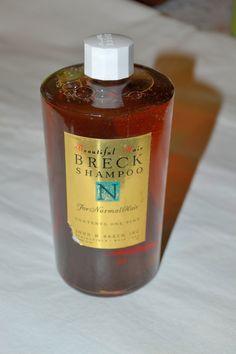 Vintage 1960s Glass Bottle Breck Shampoo