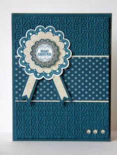 Silver and Blue Snowflakes - snowflake embossing folder, quintessential flower