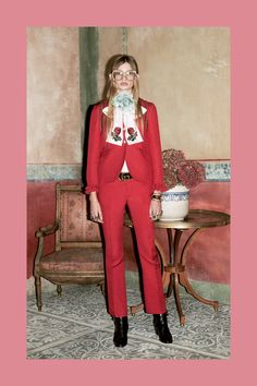 Red Suit Gucci Prefall 2016