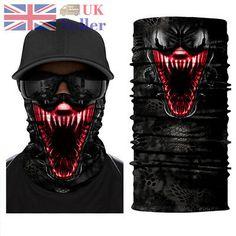 FakMe 9 Pack Headbands Headwear Neck Gaiter Headwrap Sport Sweatband Face Protector Balaclava Seamless