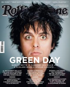 Billy Joe on the cover of Rolling Stone Italy