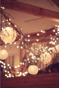 wedding twig twinkle lights