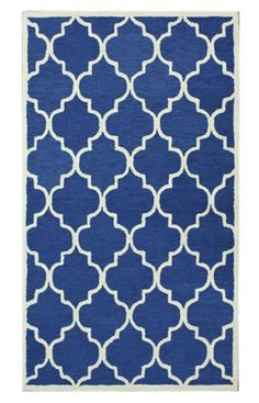 Morrocan Trellis Blue Rug... Love this pattern, can be applied to lamp shades or stenciled to a table.