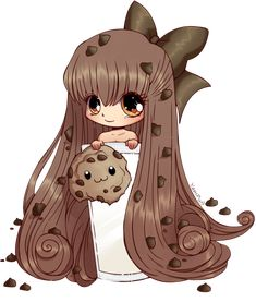 #Chibi #Fan #Cookie. Ella es una super fan de las galletas , tu también?   (Sigueme como Patricia Humpire en Pinterest)