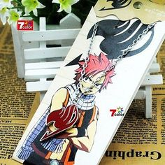 Anime-FAIRY-TAIL-Natsu-Dragneel-Guild-Cosplay-Red-Pendant-Necklace Borax Snowflakes, Anime Fairy, Fairy Tail, Cosplay, Pendant Necklace, Artwork, Jewelry, Work Of Art, Schmuck