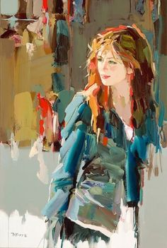 Fine Art and You: Josef Kote Painting People, Figure Painting, Painting & Drawing, L'art Du Portrait, Art And Illustration, Abstract Painters, Fine Art, Figurative Art, Female Art