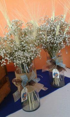 ornamentacion para bautismo floreros