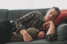 Ok so not even necessarily this guy, but I love pictures of men sleeping with babies. It's protective, but vulnerable.
