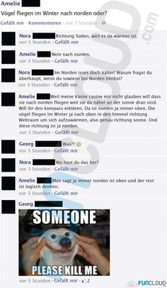 XD and where is south then . In the earth core or what 😂👏 - Sprüche - Fb Fail, Text Fails, Facebook Humor, Funny Text Messages, Stupid People, Just Kidding, Funny Cute, Funny Posts, I Laughed