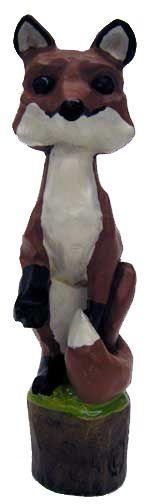 Awards & Gifts :: Wood Badge :: Fox Badge :: Fox Walking Stick Top
